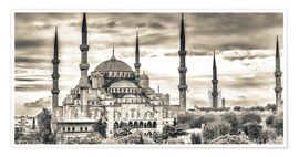 Poster  Blue mosque in sepia