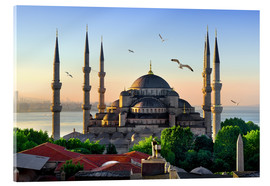 Verre acrylique  The blue mosque in Istanbul