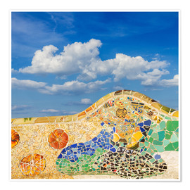 Poster Mosaic in the Park Güell