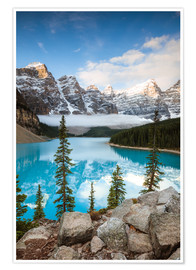 Poster Autumn at Moraine lake, Canada