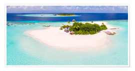 Poster  Aerial view of island in the Maldives - Matteo Colombo