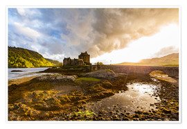 Poster  Eilean Donan Castle in the Highlands, Scotland - Dieterich Fotografie