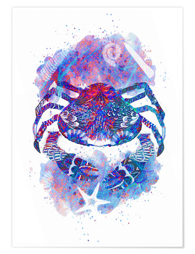 Poster Psychedelic Crab