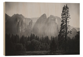 Tableau en bois  In the Yosemite valley - Pascal Deckarm