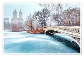Poster  Central Park Winter, Bow Bridge - Sascha Kilmer