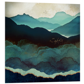 Tableau en PVC  Montagnes indigo - SpaceFrog Designs
