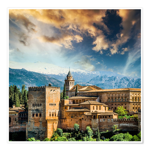 Poster View of the famous Alhambra
