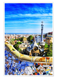 Poster  Park Guell in Barcelona