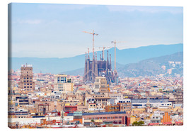Tableau sur toile  Barcelona with the Cathedral of Gaudí