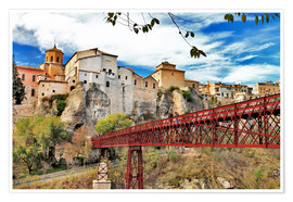 Poster  Cuenca,view with bridge