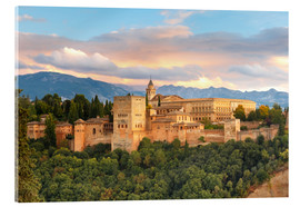 Verre acrylique  Alhambra with Comares tower