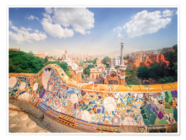 Poster  The Park Guell in Barcelona