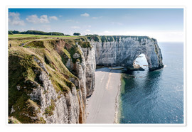 Poster Alabaster coast of Normandy