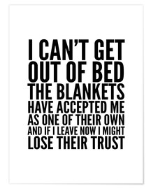 Poster I can't get out of bed
