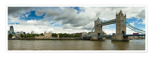 Poster Panorama Tower Bridge and Tower of London
