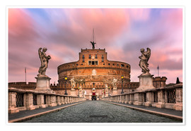 Poster  Ponte Sant'Angelo and Castel Sant'Angelo