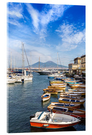 Verre acrylique  Port of Naples and Mount Vesuvius