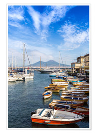 Port of Naples and Mount Vesuvius