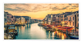 Poster Grand Canal at the blue hour