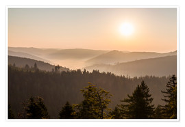 Poster  Sunrise on the Schliffkopf in the Black Forest - Dieterich Fotografie
