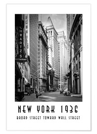 Poster Broad Street historique à New York