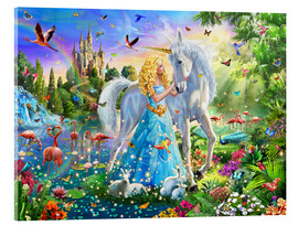 Verre acrylique  31184 The Princess, the Unicorn and the Castle - Adrian Chesterman