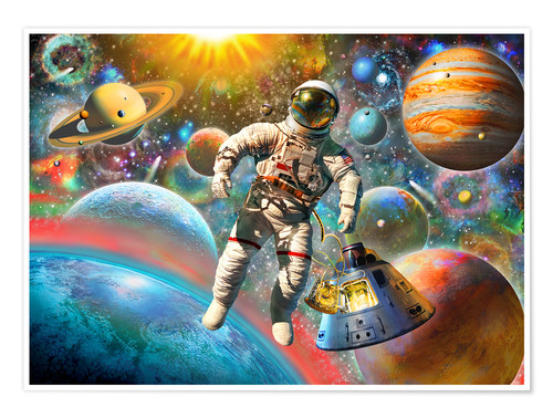 Poster 30843 Astronaut Floating in Space