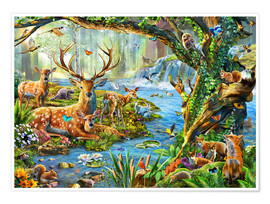 Poster 30450 Forest Life