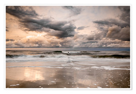 Poster Stormy Baltic Sea Usedom