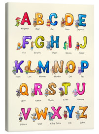 Toile  English ABC for Children - Elena Schweitzer