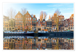 Poster  Amsterdam morning reflections - George Pachantouris