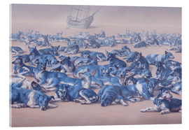 Verre acrylique  blue dogs - Johnny Palacios