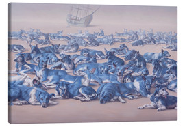 Toile  blue dogs - Johnny Palacios