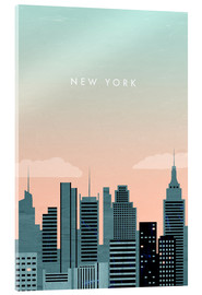 Tableau en verre acrylique  Illustration New York - Katinka Reinke