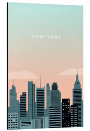Alu-Dibond  Illustration New York - Katinka Reinke