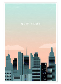 Poster  Illustration New York - Katinka Reinke