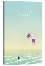 Toile  Kitesurfer on Fehmarn illustration - Katinka Reinke