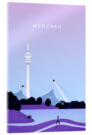 Verre acrylique  Illustration Munich - Katinka Reinke