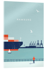 Verre acrylique  Illustration Hamburg - Katinka Reinke