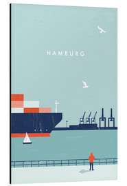 Tableau en aluminium  Illustration Hamburg - Katinka Reinke