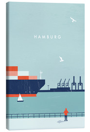 Toile  Illustration Hamburg - Katinka Reinke