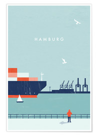 Poster Hamburg Illustration
