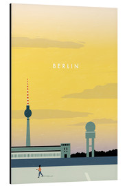 Tableau en aluminium  Illustration Berlin, Tempelhof - Katinka Reinke