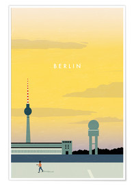 Poster Illustration Berlin, Tempelhof