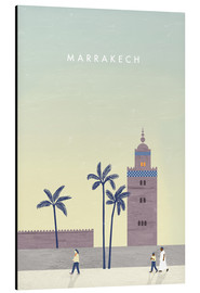 Tableau en aluminium  Illustration Marrakech - Katinka Reinke