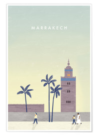 Poster Illustration de Marrakech