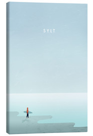 Toile  Sylt surfer illustration - Katinka Reinke