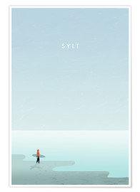 Poster Illustration de Sylt