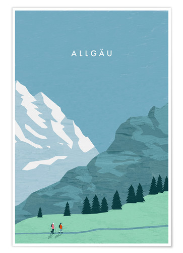 Poster Illustration Allgäu