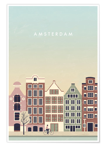Poster Amsterdam Illustration